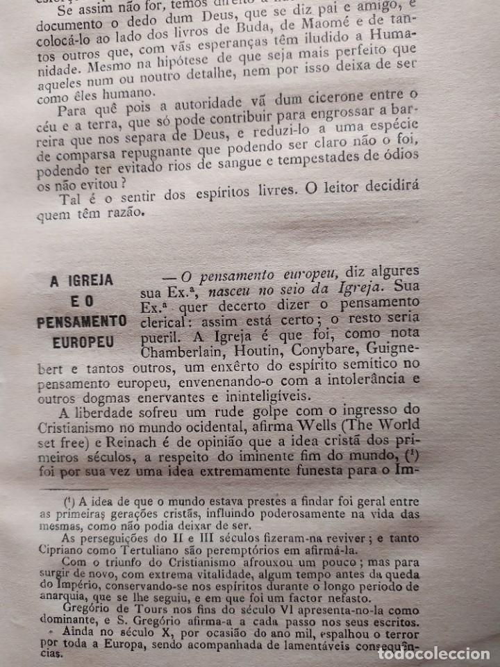Libros antiguos: 1929. Libertad, ciencia y religión. Almeida e Paiva. - Foto 6 - 264420644