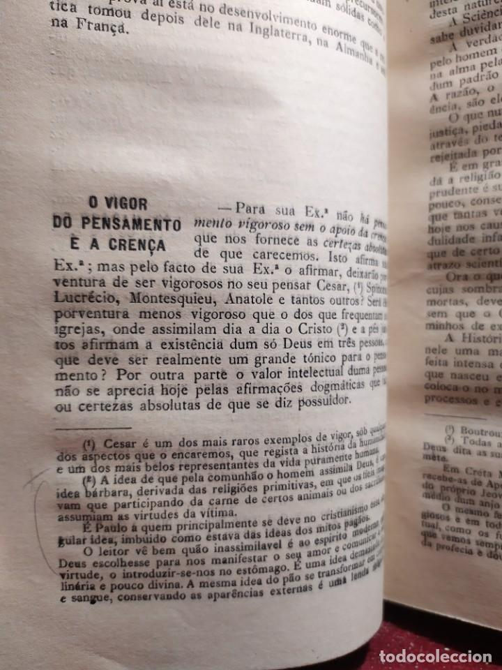 Libros antiguos: 1929. Libertad, ciencia y religión. Almeida e Paiva. - Foto 7 - 264420644