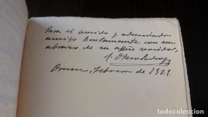 Libros antiguos: 1928 - OTERO PEDRAYO - Paisajes y problemas geográficos de Galicia - DEDICADO - Foto 2 - 267511754