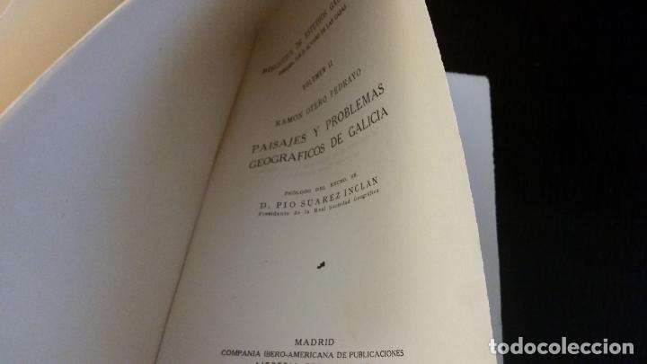 Libros antiguos: 1928 - OTERO PEDRAYO - Paisajes y problemas geográficos de Galicia - DEDICADO - Foto 3 - 267511754