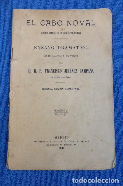 EL CABO NODAL..ENSAYO DRAMATICO...AÑO DE 1911... (Libros antiguos (hasta 1936), raros y curiosos - Literatura - Ensayo)
