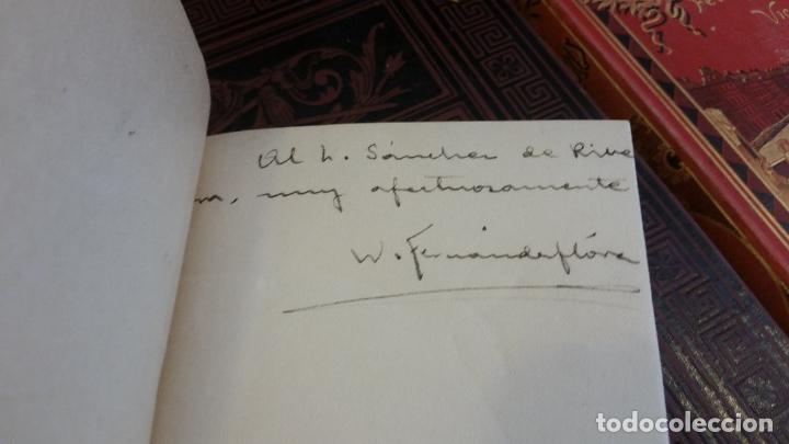 Libros antiguos: 1918 - W. FERNÁNDEZ FLÓREZ - Acotaciones de un oyente. Primera serie - 1ª ED., DEDICADO - Foto 2 - 269229433