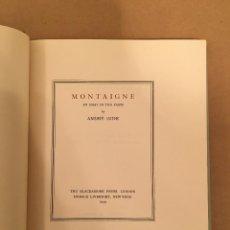Libros antiguos: MONTAIGNE ANDRE GIDE BLACKMORE PRESS FIRMADO PREMIO NOBEL GAY HOMOSEXUAL PRIMERA EDICION. Lote 271040888