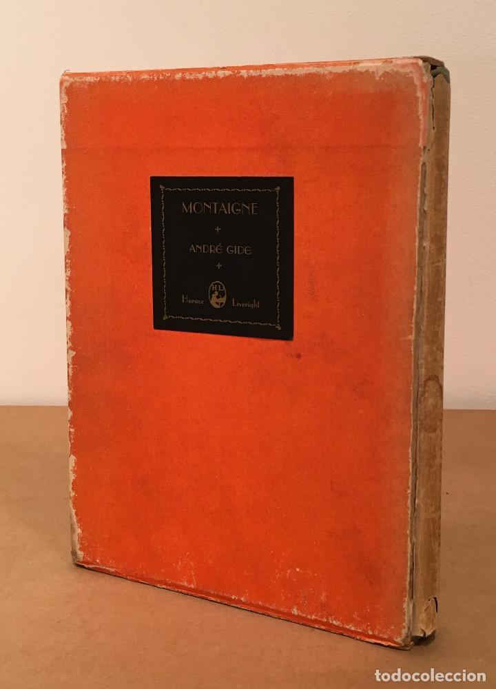 Libros antiguos: MONTAIGNE ANDRE GIDE BLACKMORE PRESS FIRMADO PREMIO NOBEL GAY HOMOSEXUAL PRIMERA EDICION - Foto 3 - 271040888