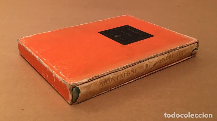 Libros antiguos: MONTAIGNE ANDRE GIDE BLACKMORE PRESS FIRMADO PREMIO NOBEL GAY HOMOSEXUAL PRIMERA EDICION - Foto 9 - 271040888