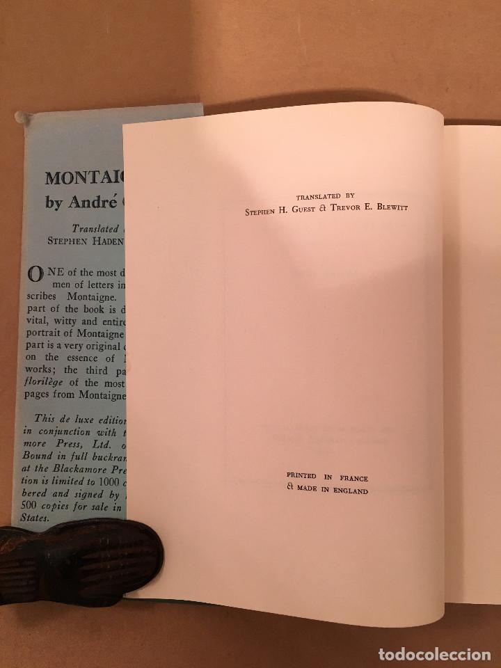 Libros antiguos: MONTAIGNE ANDRE GIDE BLACKMORE PRESS FIRMADO PREMIO NOBEL GAY HOMOSEXUAL PRIMERA EDICION - Foto 17 - 271040888