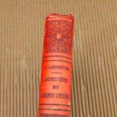 Libros antiguos: CARPENTIER JEUNES TETE. Lote 271147193
