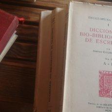Libros antiguos: DICCIONARIO BIO-BIBLIOGRÁFICO DE ESCRITORES. ANTONIO COUCEIRO FREIJOMIL. BIBLIÓFILOS GALLEGOS, 1951. Lote 280812393