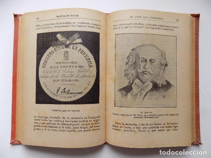 Libros antiguos: LIBRERIA GHOTICA. RAFAEL MAINAR. EL ARTE DEL PERIODISTA. 1910. ILUSTRADO. MANUALES SOLER. - Foto 3 - 288401863