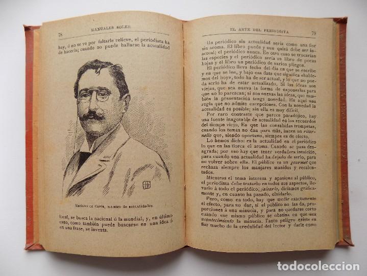 Libros antiguos: LIBRERIA GHOTICA. RAFAEL MAINAR. EL ARTE DEL PERIODISTA. 1910. ILUSTRADO. MANUALES SOLER. - Foto 4 - 288401863