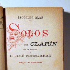 Libros antiguos: ALAS, LEOPOLDO - SOLOS DE CLARÍN - MADRID 1891 - ILUSTRADO. Lote 294382468
