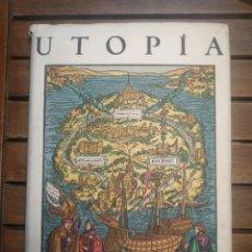 Libros antiguos: UTOPIA. TOMÁS MORO. THOMAS MORE .VERSIÓN ESPAÑOLA DE RAMÓN ESQUERRA Y JUICIO CRÍTICO QUEVEDO. 1937. Lote 296705673