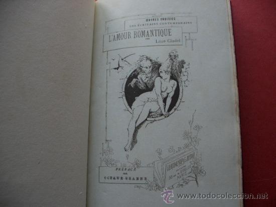 Libros antiguos: CLADEL, Léon Lamour romantique. Préface par Octave Uzanne. Illustrations de A. Ferdinandus. - Foto 3 - 27233054