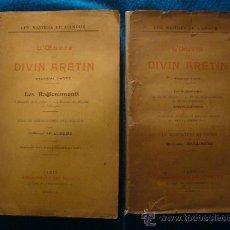 Libros antiguos: PIETRO ARETINO: - LES RAGIONAMENTI - (2 TOMOS) (1909 - 1923) (INTRODUCCION Y ESTUDIO DE APOLLINAIRE). Lote 31323865