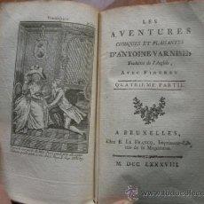 Libros antiguos: 1788 TOMOS 3 Y 4 DE LAS AVENTURAS CÓMICAS Y PLACENTERAS D EANTOINE VARNISII CON DOS GRABADOS. Lote 36425149
