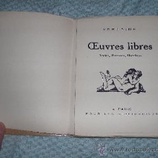 Libros antiguos: PAUL VERLAINE - OEUVRES LIBRES. AMIES, FEMMES, HOMBRES -. Lote 38390565