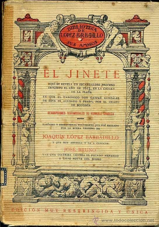 EL JINETE (LÓPEZ BARBADILLO, C. 1920) (Libros antiguos (hasta 1936), raros y curiosos - Literatura - Narrativa - Erótica)