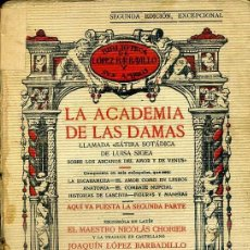 Libros antiguos: LA ACADEMIA DE LAS DAMAS SEGUNDA PARTE (LÓPEZ BARBADILLO, 1933). Lote 39631795