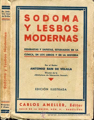 1932: SODOMA Y LESBOS MODERNAS. PEDERASTAS Y SAFISTAS. SEXO. (Libros antiguos (hasta 1936), raros y curiosos - Literatura - Narrativa - Erótica)