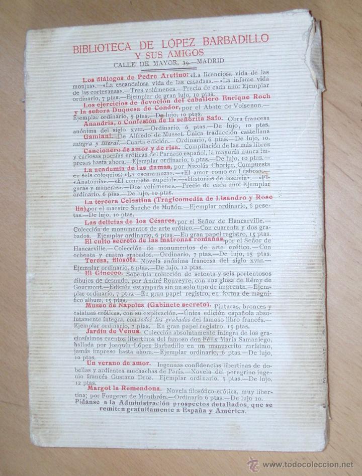 Libros antiguos: EL JINETE. Biblioteca López Barbadillo .Edición muy restringida y única. ver Rarísimo - Foto 4 - 205686463