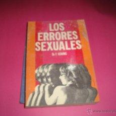 Libros antiguos: LOS ERRORES SEXUALES - DR. F. KONING. Lote 144228225