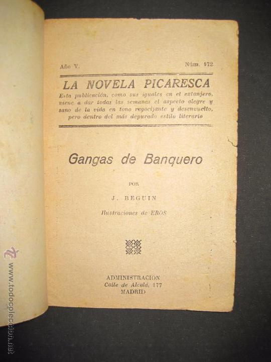 Libros antiguos: LA NOVELA PICARESCA - GANGAS DEL BANQUERO - NUM 172 - ILUSTRACIONES EROS - Foto 2 - 48921623