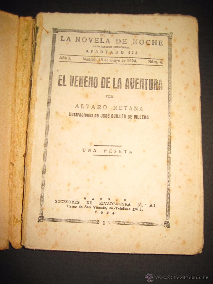 Libros antiguos: NOVELA EROTICA - LA NOVELA DE NOCHE - EL VENENO DE LA AVENTURA - Nº4 - Foto 2 - 49418546