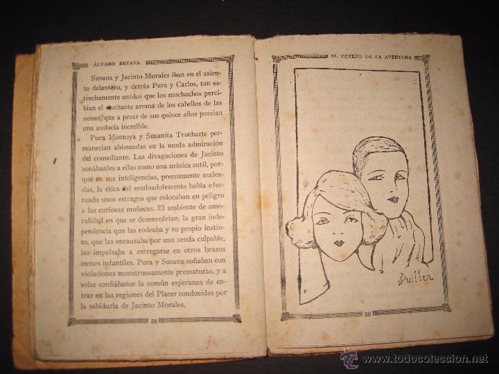 Libros antiguos: NOVELA EROTICA - LA NOVELA DE NOCHE - EL VENENO DE LA AVENTURA - Nº4 - Foto 8 - 49418546