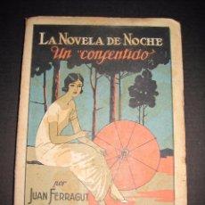 Libros antiguos: NOVELA EROTICA - LA NOVELA DE NOCHE - UN CONSENTIDO - Nº13 - VER FOTOS. Lote 49418612