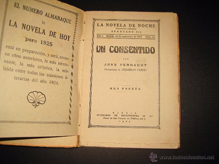 Libros antiguos: NOVELA EROTICA - LA NOVELA DE NOCHE - UN CONSENTIDO - Nº13 - VER FOTOS - Foto 2 - 49418612