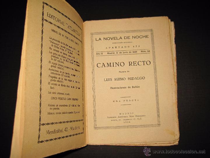 Libros antiguos: NOVELA EROTICA - LA NOVELA DE NOCHE - CAMINO RECTO - Nº54 - VER FOTOS - Foto 3 - 49418640