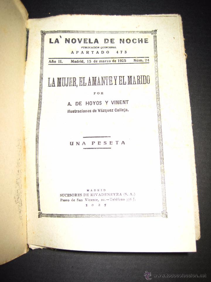 Libros antiguos: NOVELA EROTICA - LA NOVELA DE NOCHE - LA MUJER EL AMANTE Y EL MARIDO - Nº 24 - VER FOTOS - Foto 2 - 49418870
