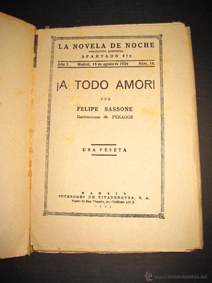 Libros antiguos: NOVELA EROTICA - LA NOVELA DE NOCHE - A TODO AMOR - Nº 10 - VER FOTOS - Foto 2 - 49418911