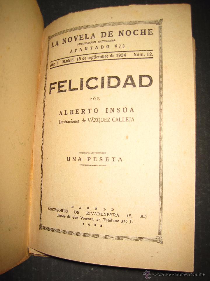 Libros antiguos: NOVELA EROTICA - LA NOVELA DE NOCHE - FELICIDAD - Nº 12 - VER FOTOS - Foto 2 - 49418957
