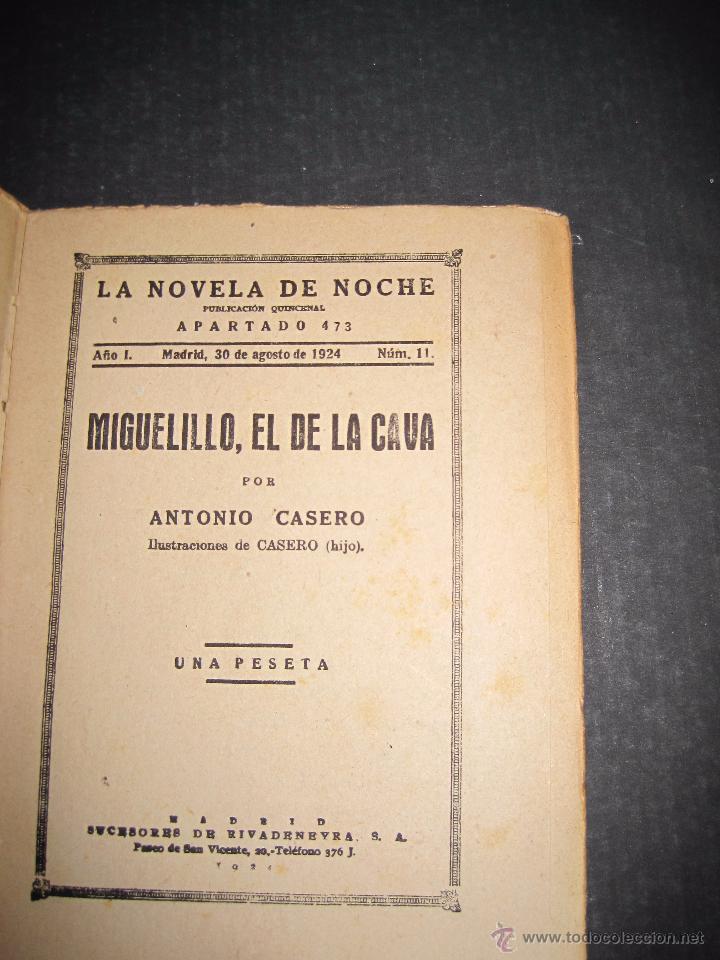 Libros antiguos: NOVELA EROTICA - LA NOVELA DE NOCHE - MIGUELILLO EL DE LA CAVA - Nº 11 - VER FOTOS - Foto 3 - 49418979