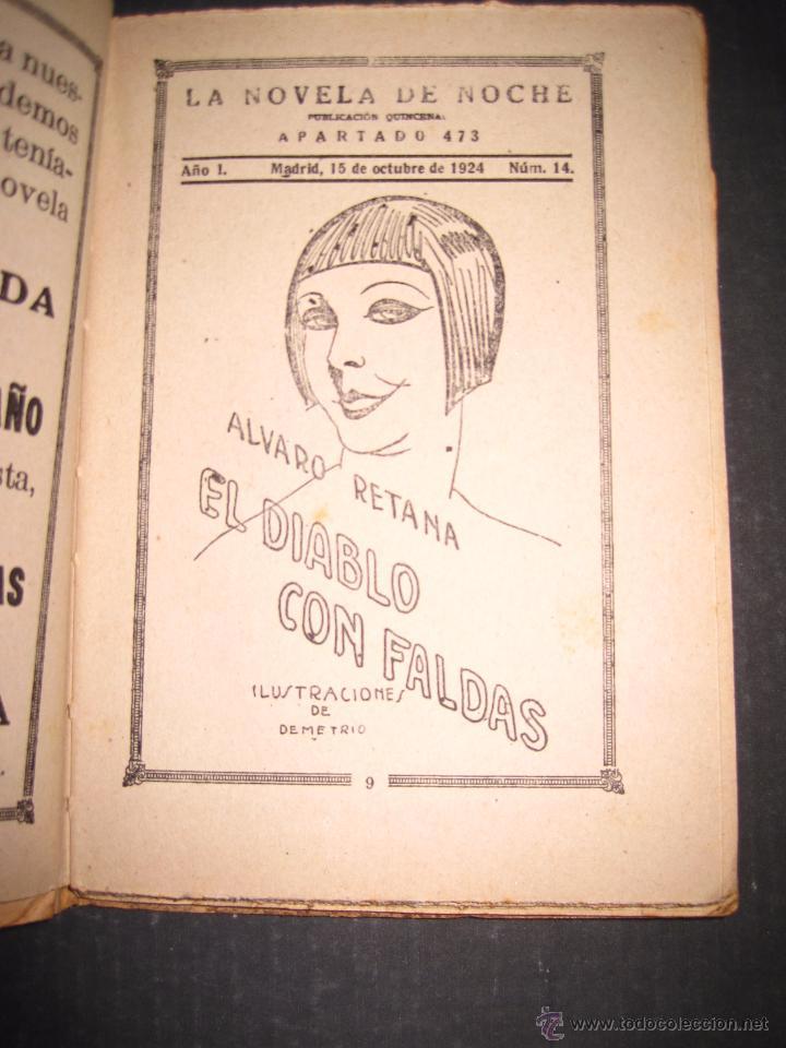 Libros antiguos: NOVELA EROTICA - LA NOVELA DE NOCHE - EL DIABLO CON FALDAS - Nº 14 - VER FOTOS - Foto 2 - 49418995