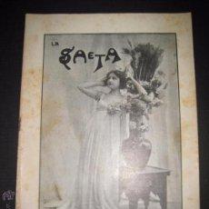 Libros antiguos: LA SAETA - 7 DE SEPTIEMBRE 1899 - Nº 459. Lote 49944430