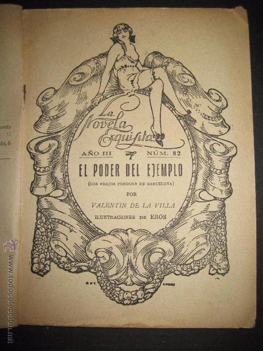 Libros antiguos: LA NOVELA EXQUISITA - EL PODER DEL EJEMPLO - NUMERO 82 - ILUSTRACIONES DE EROS - Foto 2 - 50637632