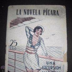 Libros antiguos: LA NOVELA PICARA - UNA EXCURSION MARITIMA - NUMERO 13 - ILUSTRACIONES DE NOE. Lote 50638095