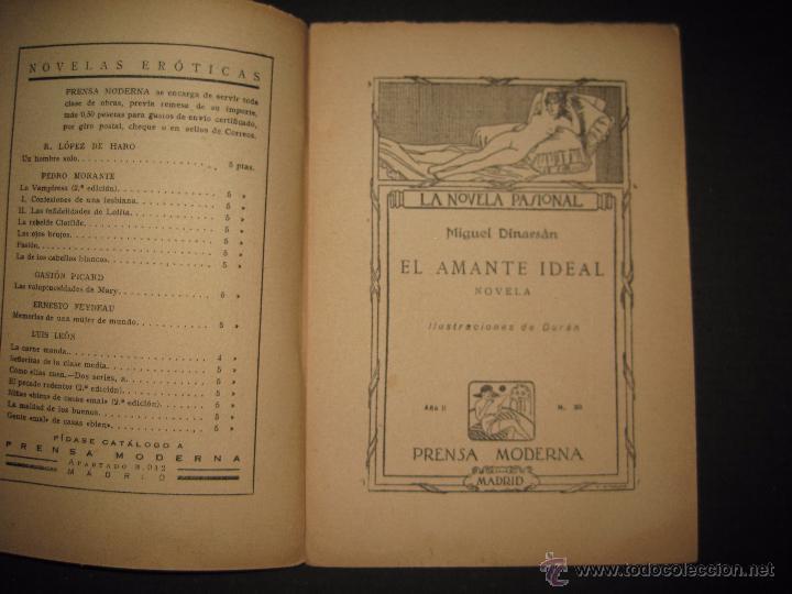 Libros antiguos: LA NOVELA PASIONAL - EL AMANTE IDEAL - NUMERO 38- ILUSTRACIONES DE DURAN - Foto 2 - 109014030