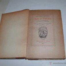 Libros antiguos: PAUL ET VIRGINIE -. Lote 52565758
