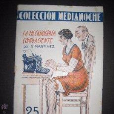 Libros antiguos: COLECCION MEDIANOCHE - NUM 14- LA MECANOGRAFA COMPLACIENTE - ILUSTRACIONES DE ADAN - VER FOTOS . Lote 52587120