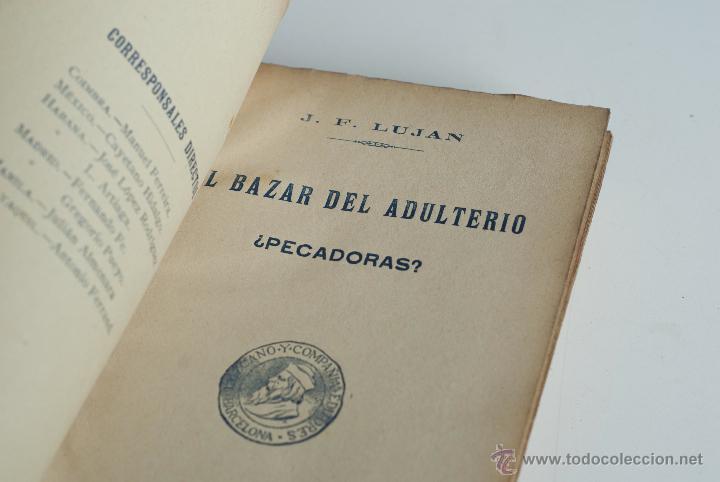 Libros antiguos: El bazar del adulterio ¿Pecadoras? - J.F. Lujan 1902 - Foto 2 - 52632882