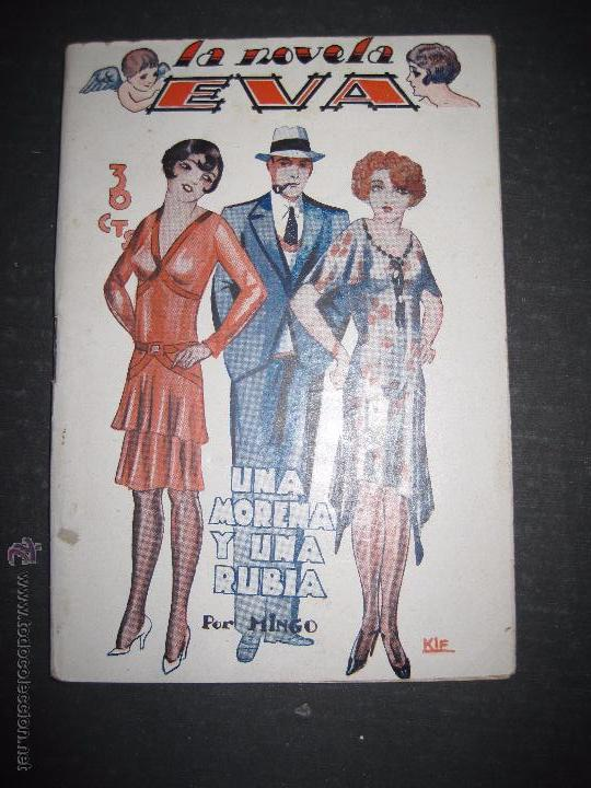 LA NOVELA EVA - UNA MORENA Y UNA RUBIA - NUMERO 14 - ILUSTRACIONES DE KIF (Libros antiguos (hasta 1936), raros y curiosos - Literatura - Narrativa - Erótica)