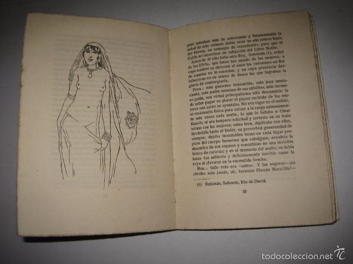 Libros antiguos: KORAN DE AMOR - NOVELA EROTISMO - JUAN G. OLMEDILLA - VER DIBUJOS - (V- 5235) - Foto 6 - 56258469