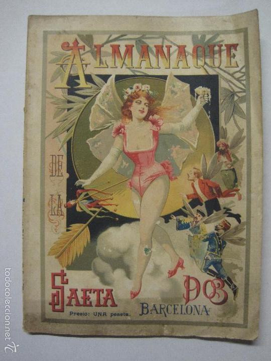 LA SAETA - ALMANAQUE 1903 - EROTISMO ... - VER FOTOS - (V-5506) (Libros antiguos (hasta 1936), raros y curiosos - Literatura - Narrativa - Erótica)