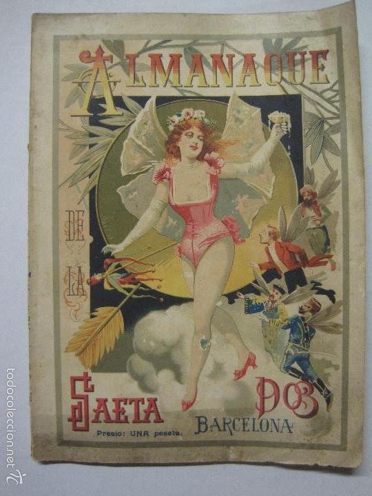 Libros antiguos: LA SAETA - ALMANAQUE 1903 - EROTISMO ... - VER FOTOS - (V-5506) - Foto 4 - 56701200