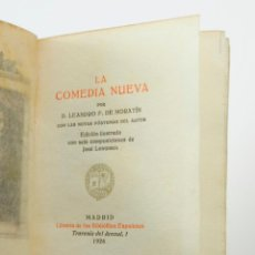 Libros antiguos: LA COMEDIA NUEVA, MORATÍN. 8,5 X 12 CM. ILUSTRADO POR LONGORIA, TIRAJE LIMITADO 496/500. Lote 56893654