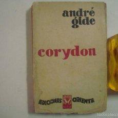 Libros antiguos: 1A EDICIÓN ILUSTRADA DEL MÍTICO CORYDON, DE ANDRÉ GIDÉ.1929. ED. ORIENTE. Lote 57095185