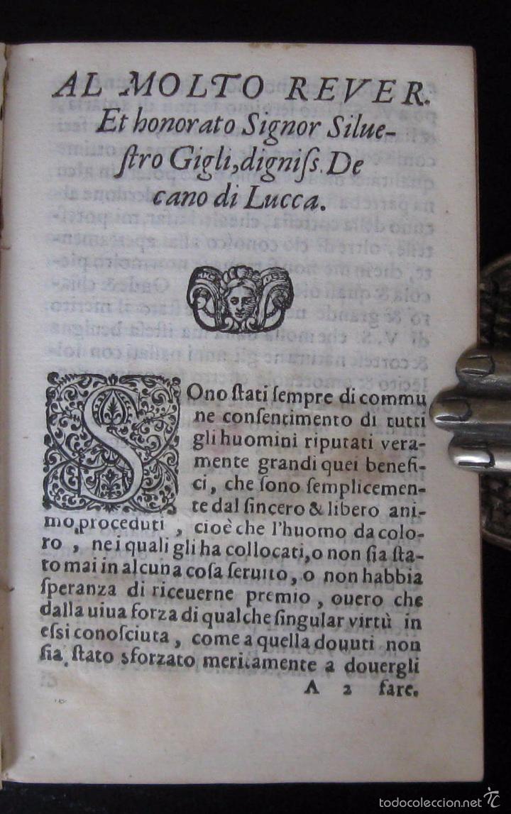 Libros antiguos: Raro - Venecia, 1578 - Aquiles Tacio: Leucipa y Clitofonte - Novela Erótica Bizantina - Pergamino - Foto 7 - 60379143
